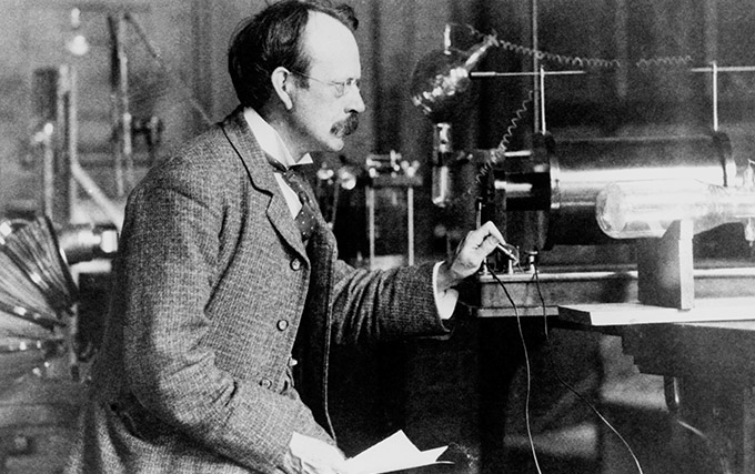 J.J. Thomson and the discovery of the electron via cathode rays