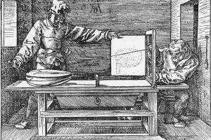 Illustration by Albrecht Durer, Underweysung Der Messung